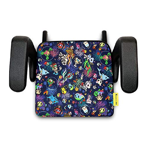 Sale!! Clek Olli Backless Booster Car Seat with Rigid Latch, Tokidoki Reef Rider, OL12U2-TKRR