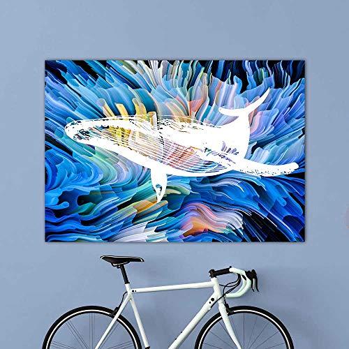 wtnhz Kein Rahmen öl ng auf leinwand London Sich Peppa Pig ng schürze Shabby HD Spray Auf Leinwand Ölbilder Für Modern Home Decor Living Ro 40x60cm