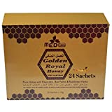 Large Pack of 24) Royal Organic Honey For Men For Wonderful Secret Miracles with Royal Jelly Bee Pollen & 100% Pure Mixed Herbals