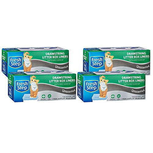 Fresh Step Drawstring Cat Litter Box Liners Fresh Scent $8.08 (59% Off)