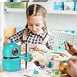 4YANG Juego Educativo Recurso Educativo-Quincy, Robot- Lenguaje/Calculadora/Dibujo, incluye 4 Libros, 38 Tarjetas y 2 Bolígrafos, Recargable por USB, Regalo Unico para Niños y Niñas