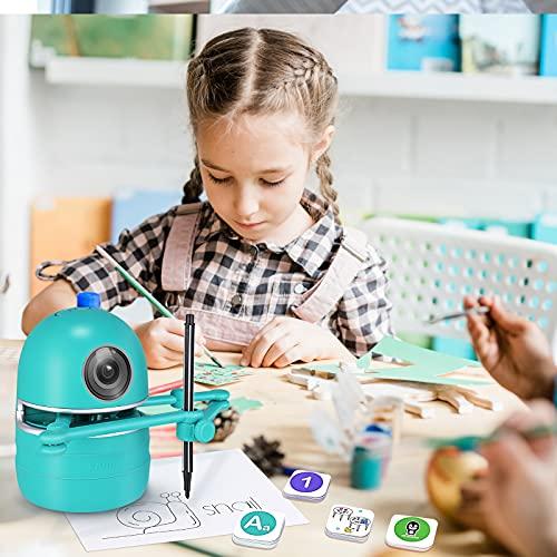 4YANG Juego Educativo Recurso Educativo-Quincy, Robot- Lenguaje/Calculadora/Dibujo, incluye 4 Libros, 38 Tarjetas y 2...
