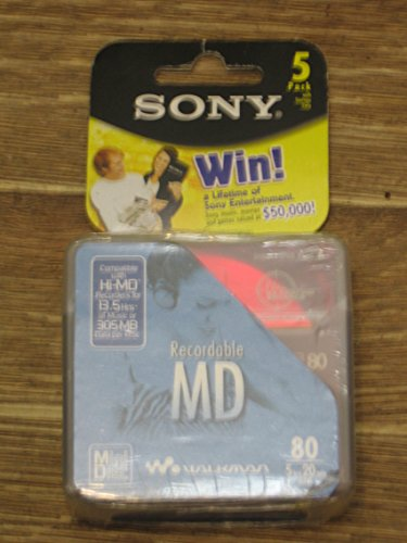 Sony MiniDiscs, 5-Pack 5MDW80CL2