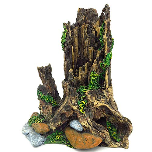 YAOHEHUA Piedras Adornos de decoración de acuarios Planta de simulación de Cabeza de árbol Mini decoración de pecera Cedro ajardinado 18 * 13.5 * 20 cm