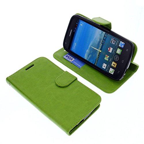 foto-kontor Tasche für Huawei Ascend Y600 Book Style grün Schutz Hülle Buch