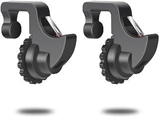 荒野行動 コントローラー ゲームパッド 機能付き 押しボタン 感応射撃ボタン 視線が遮らない 最新技術の改良版 (黒)