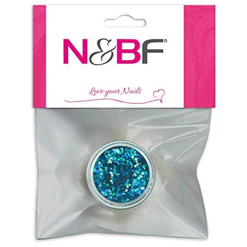 Nail Art Glitter Square pour Full Cover Model couches de Light Blue & individuelle Nail Art Design Motif