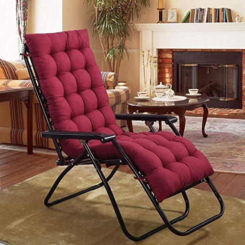 Aishang - Cojín para silla de interior y exterior, cojín para tumbona, cojín para silla mecedora, cojín para silla de jardín, cojín para tumbonas (solo cojín), color rojo