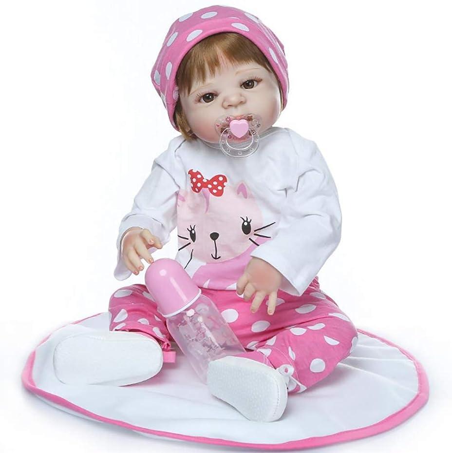 要求受け継ぐ任命生まれ変わったベビードールの女の子、リアルな幼児のベビードール、22インチ55CMてんとう虫フィギュア服セット付きリアルなシリコンベビードール、3歳以上のギフトEN71