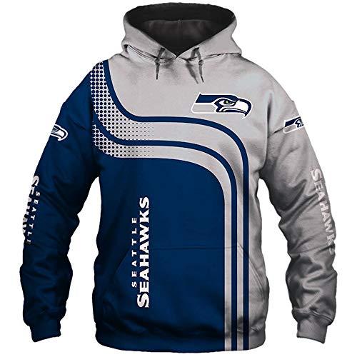 NFL Jersey Seattle Seahawks Hoodies/T-Shirt Unisex 3D-Druck American Football Sweatshirt
