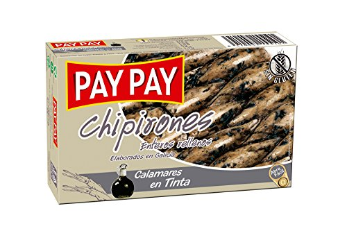PAY PAY calamaro ripieno di inchiostro ideale per preparare le migliori tapas può 72 g