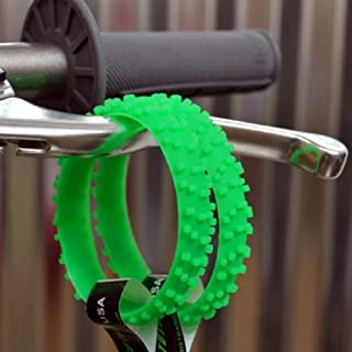 GREEN KNOBBY DIRT BIKE TIRE WRISTBAND mx 450 250 125 wheel bracelet