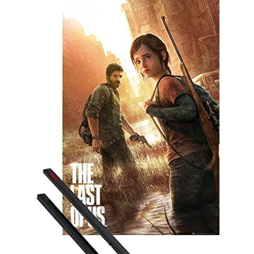 1art1 The Last of Us Poster Stampa (91x61 cm) Key Art E Coppia di Barre Porta Poster Nere