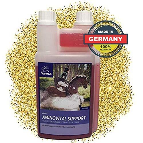 EMMA® aminozuren vloeibare paarden I mineraal voer I amino-energie I spieropbouwend paard I vitamine B-complex B1 B6 B12 l carnitine methionine zink lysine paard 1 L