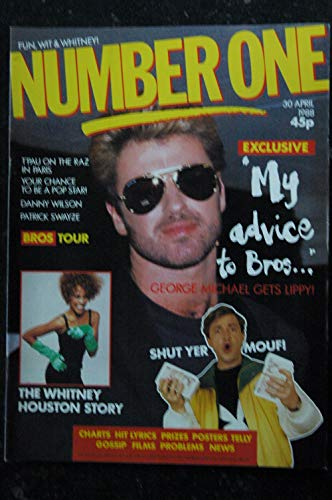 NUMBER ONE issue 254 - 30 avril 1988 Whitney Houston - George Michael - Patrick Swayze - Bruce Willis