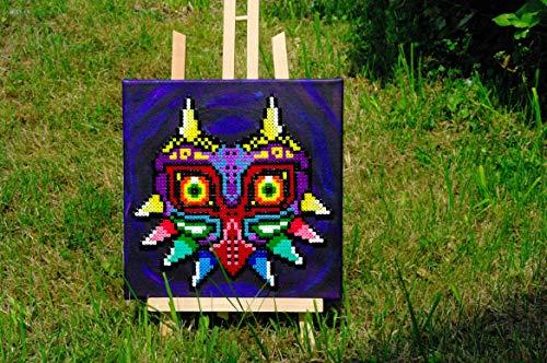 Frame/Paint - Majora's Mask • perler beads pixel art