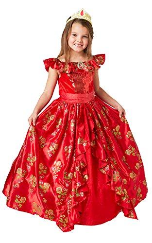 Rubie' s costume da Elena di Avalor, vestito da ballo deluxe, licenza ufficiale Disney, da bambini