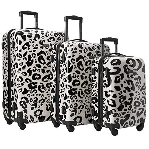 kensie 3 Piece Luggage Set, Leopard Spots