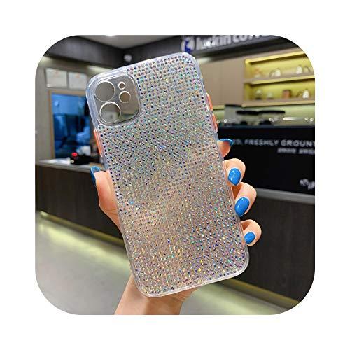 Schutzhülle für iPhone 12, Schutzhülle Bling Glänzend Diamant 3D Luxus für iPhone 11 12 Pro XS Max XR X 7 8 Plus SE 2020 Rückabdeckung Kristall Glitzer a-for iPhone 12Mini