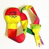 Zeekio Fox Fling Sock Toy- Easy Catch and Throw (multi-color)