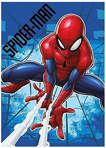 Spider Man Plaid doux et chaud pour enfants en polaire avec impression (Spiderman Bleu)