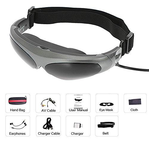 Head-Mounted Display FPV Gläser, Smart Video-Gläser 80 Zoll Virtuelle Wide Screen AV-Eingang Für PS3 Xbox MP5 TV DVD-Player