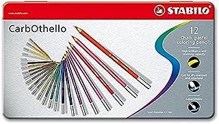 Stabilo Charcoal Pastel Pencil, 12 Colors