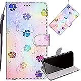 Yiizy Handyhüllen für LG Q6 M700N M700A, Palm drucken Ledertasche Flip Hülle Wallet Stylish mit Standfunktion Magnetisch PU Tasche Schutzhülle passt für LG Q6 Smartphone