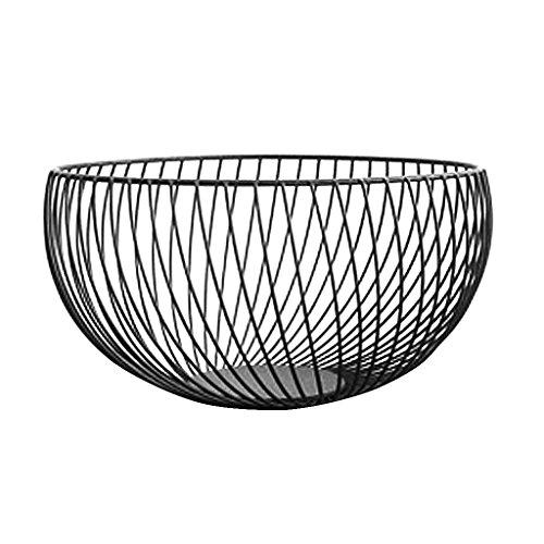 Tandou - Cesta de metal para frutas, verduras, cuencos de cocina, huevos, soporte para el minimalismo nórdico E
