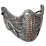 LOADREAM Scorpion Mask Mortal Kombat Subzero Mask Black Resin Sub Zero Mask Adult Men Boys Cosplay Halloween Party Props Gifts (Gray Resin Mask)