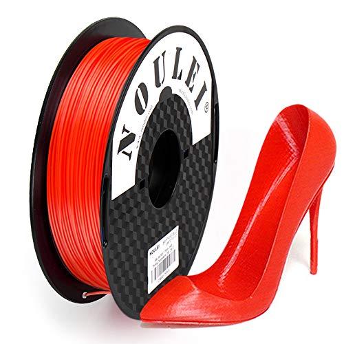 Noulei PETG 3D Drucker Filament 1.75mm, Red, 0.5 kg Spool