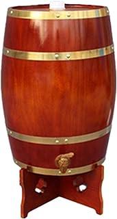 Distributeur de Boisson en Fût de Chêne 20L Avec Support en Bois pour Stocker La Liqueur de Whisky Au Rhum (Color : Chocol...
