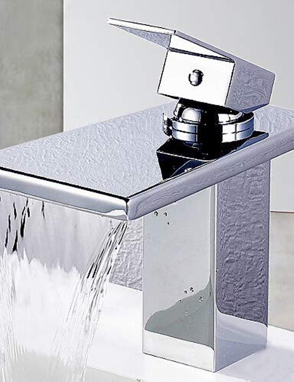 Mainstream home LPZSQ Tippen Waschbecken Wasserhhne zeitgenssische Wasserfall Messing Chrom  272