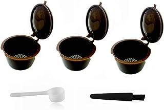 LIGICKY Capsules de Café Rechargeables,3 Pcs Capsule Filtre de Café Réutilisables Compatible Nescafe Dolce Gusto 1 Cuiller...