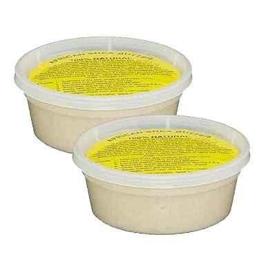 """Mantequilla de karité africana pura sin refinar de Ghana""""IVORY"""" 8 onzas. Contenedor:"""