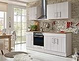 respekta Kitchen Kitchenette Fitted Kitchen Cottage Kitchen Fitted Kitchen Fully Fitted Kitchen 210 cm White