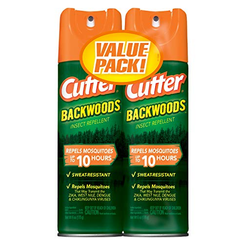 Cutter Backwoods Insect Repellent, Aerosol, 6-Ounce Pack of 2