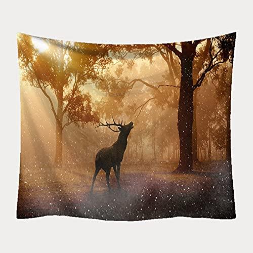 XGguo Tapiz para Colgar en la Pared, decoración del hogar Manta Estampada Serie Ciervos Decorativos