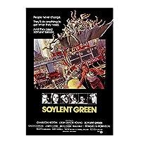 Weitaian ソイレントグリーンクラシック映画のポスターとプリント壁アートキャンバス絵画家の装飾ギフトプリントキャンバスアートワーク-50X70Cmフレームなし