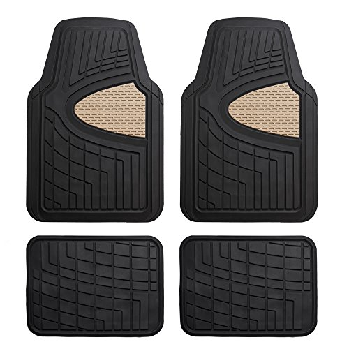 FH Group F11311BEIGE Rubber Floor Mat