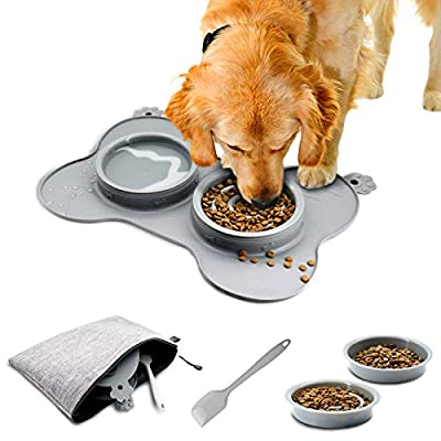 Amazon - 70% Off on Three  Dog Slow Feeder Bowl for Mini Small Dogs Cats Puppy