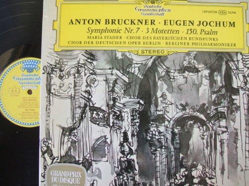"""DGG """"TULIP"""" STEREO- 2 LPs- BRUCKNER- SYMPHONY NO 7- 3 MOTETS- 150 PSALM- JOCHUM"""