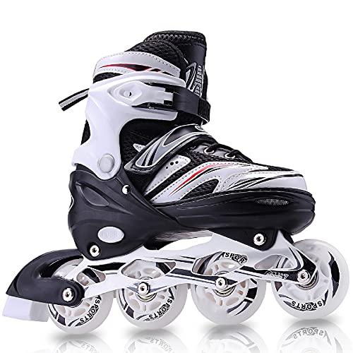 Adjustable Inline Skates for Kids with Full Light up Wheels,Illuminating Roller Skates for Boys and...