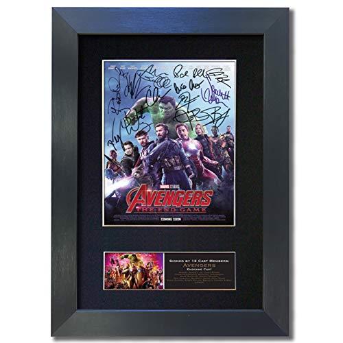 The Gift Room Avengers Endgame Film-Qualitäts-Autogramm, gerahmtes Foto, A4 schwarzer Rahmen