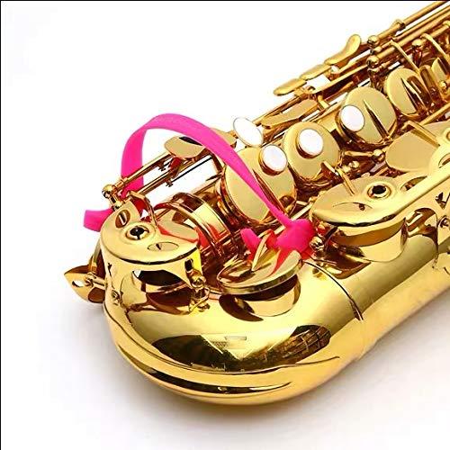 UP100 Stop Sticky Saxophon-Schlüsselpolster – passend für Alt-, Tenor-, Bari- und Basssaxophon-Saxophon sauber halten Kits (Pink)
