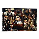 Qiuni Póster de la película El Padrino 02 Cuadro decorativo Lienzo de pared Arte de la sala de estar Pósters de dormitorio Pintura 60 x 90 cm