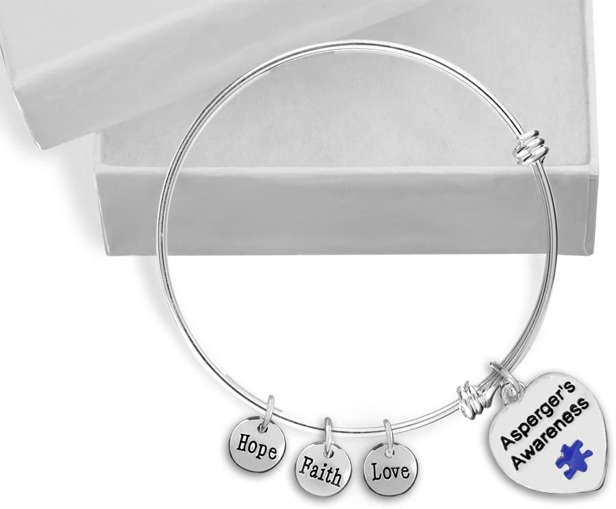Limited price sale 10 Excellent Pack Autism Awareness Puzzle Bag Bracelets Individually Piece