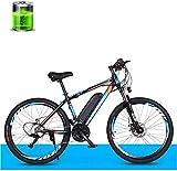 MQJ Ebikes Electric Bicycle, Bici de Montaña Eléctrica de 26 Pulgadas Velocidad Variable Adult Off-Road 36V250W Motor / 10Ah Batería de Litio de Litio 50Km, Bicicleta de la Ciudad de 27 Velocidades