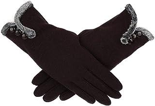 Women Cashmere Keep Warm Driving Full Finger Gloves Touch Screen Glove Winter Hot Women's Gloves
