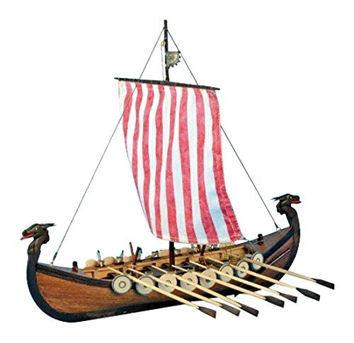 Modell aus Holz Wikingerschiff 1/75